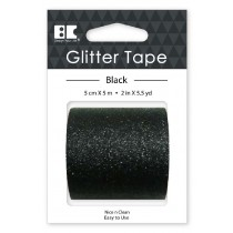 Large Glitter Tape Black 50mm x 5m  Roll
