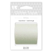 Large Glitter Tape White 50mm x 5m  Roll