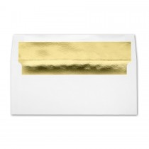 White Wove #10 Square Flap Gold Foil Lined Envelope