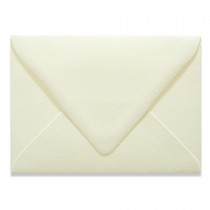 A9 Euro Flap 60# Cover Canaletto Bianco Envelopes Pack of 50