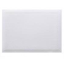 Classic Linen 80# Cover Avon Brilliant White A7 Imperial Embossed Border Cards Pack of 50