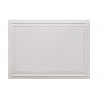 Classic Linen 80# Cover Cranberry Ice A7 Imperial Embossed Border Cards Bulk Pack of 250