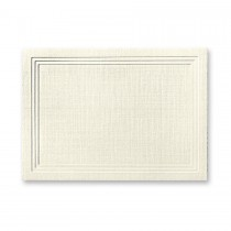 Classic Linen Classic Natural White Escort/Enclosure Triple Panel Card