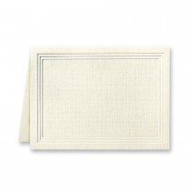 Classic Linen Classic Natural White Escort/Enclosure Triple Panel Folder