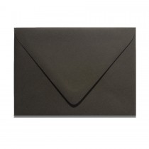 4 Bar Euro Flap Gmund Colors 87 Licorice Black Envelopes Pack of 50