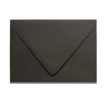 A7 Inner Ungummed Euro Flap Gmund Colors 87 Licorice Black Envelopes Pack of 50