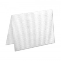 Neenah Classic Columns Recycled Bright White A7 No Panel Folder