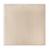 Neenah Eames Painting Eames Natural White 7 1/4 Square Imperial Embossed Border Card