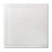 Neenah Eames Painting Eames White 7 1/4 Square Imperial Embossed Border Card