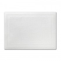 Neenah Eames Painting Eames White A2 Imperial Embossed Border Card