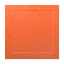 Gruppo Cordenons Malmero Perle Orange 6 1/4 Square Bevel Panel Card
