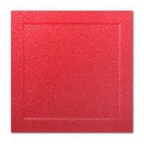 Gruppo Cordenons Malmero Perle Vermillion 6 1/4 Square Bevel Panel Card