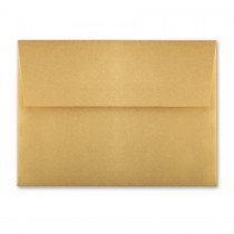 "Reich Shine Intense Gold A1 (4 Bar Square Flap) 80# Text Envelopes (3 5/8"" x 5 1/8"") Bulk Pack of 250"