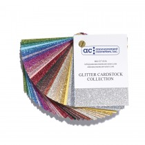 Announcement Converters Glitter Paper Collection Swatch Book