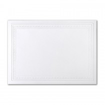 Premium Vellum Ultra White A7 Imperial Embossed Border Card