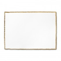 Premium Vellum Ultra White A2 Deckle Edge Border Gold Metallic Printed Card
