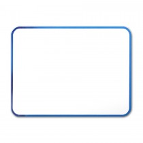 Premium Vellum Ultra White A2 Royal Border Blue Foil Card