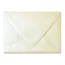 4 Bar Euro Flap 80# Text Esse Pearlized Latte Envelopes Pack of 50